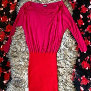 EXPRESS Red Pink Bandage Mini Dress Size XS